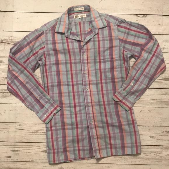e8d134051c3 BALMAIN Vintage Pastel Plaid Button down shirt S. M_5abb29935521bef6720b9c19